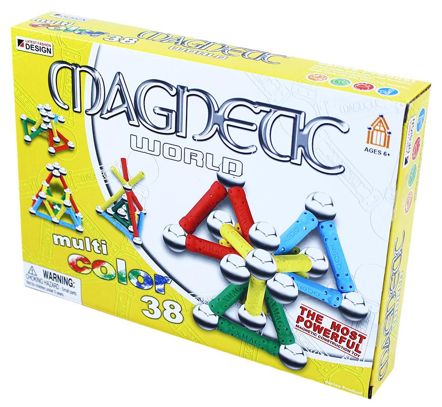 stavebnica magnetická 3D, 38 dielov