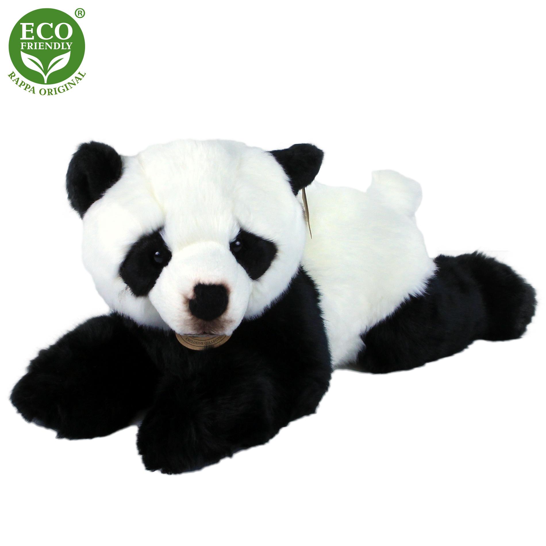 plyšová panda ležiaca, 43 cm