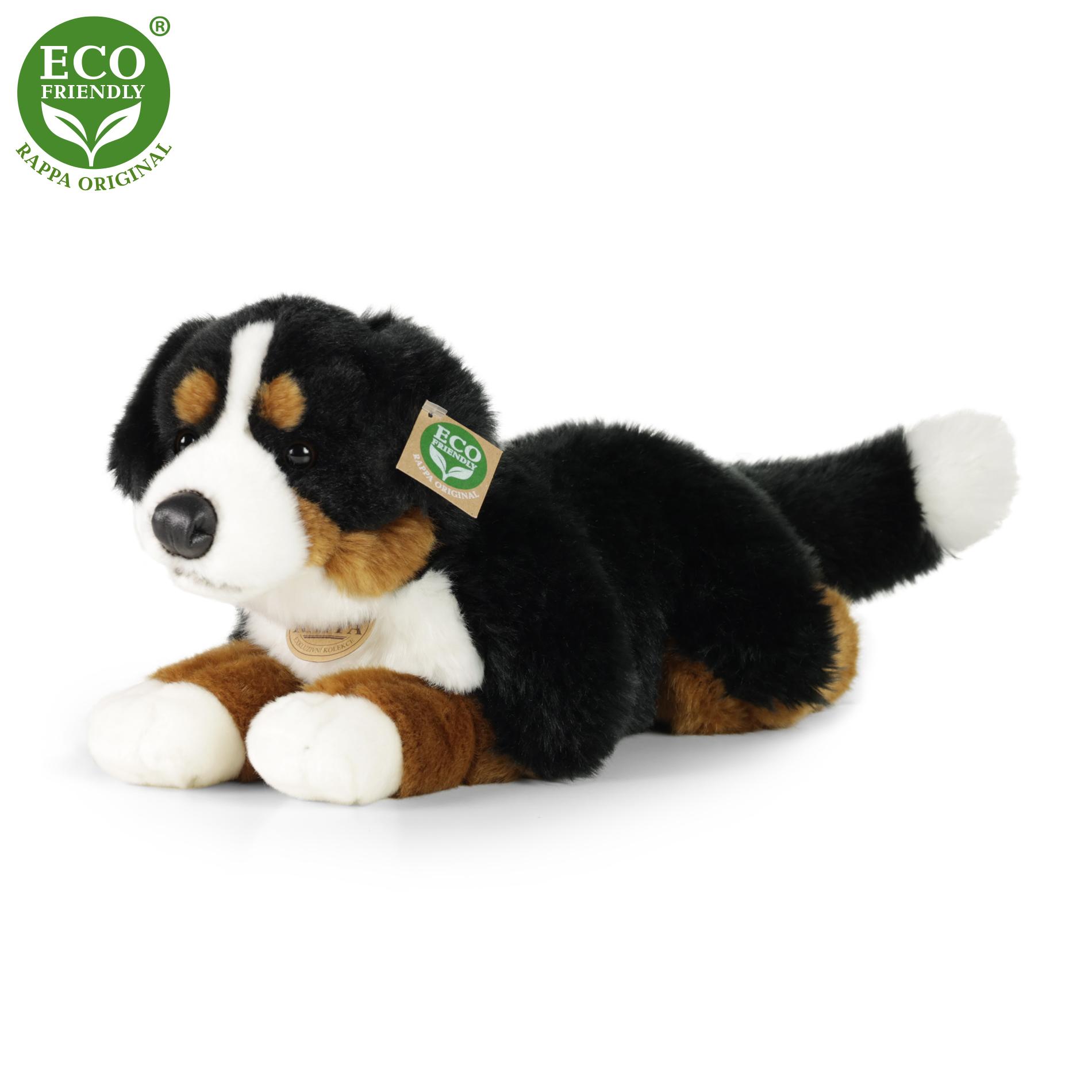 plyšový pes salašnícky ležiaci, 40 cm