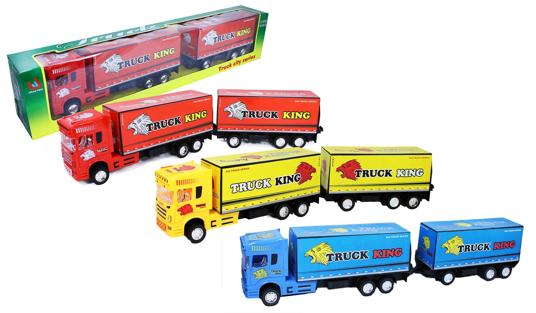 auto kamión s prívesom, 3 druhy