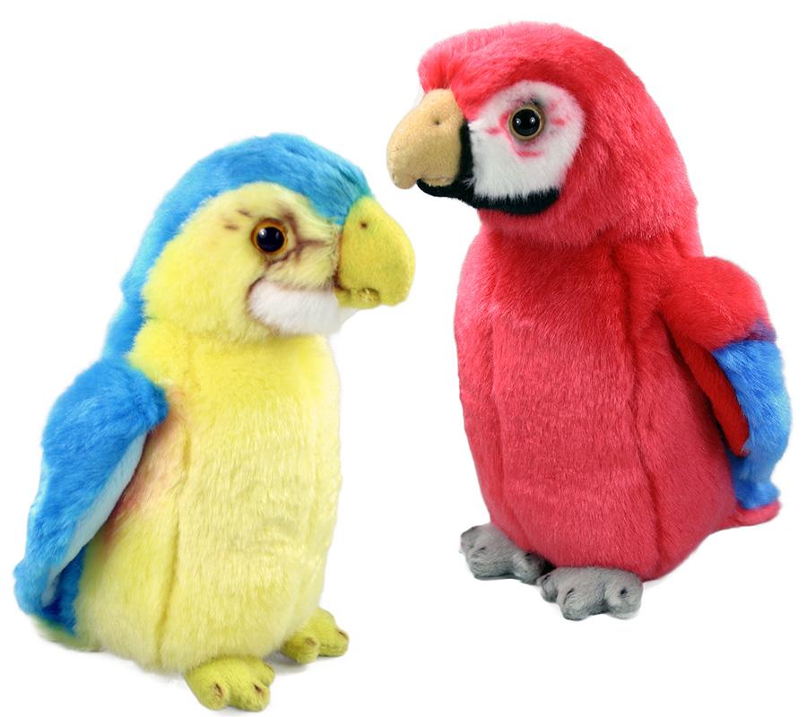 plyšový papagáj, 2 druhy, 19 cm