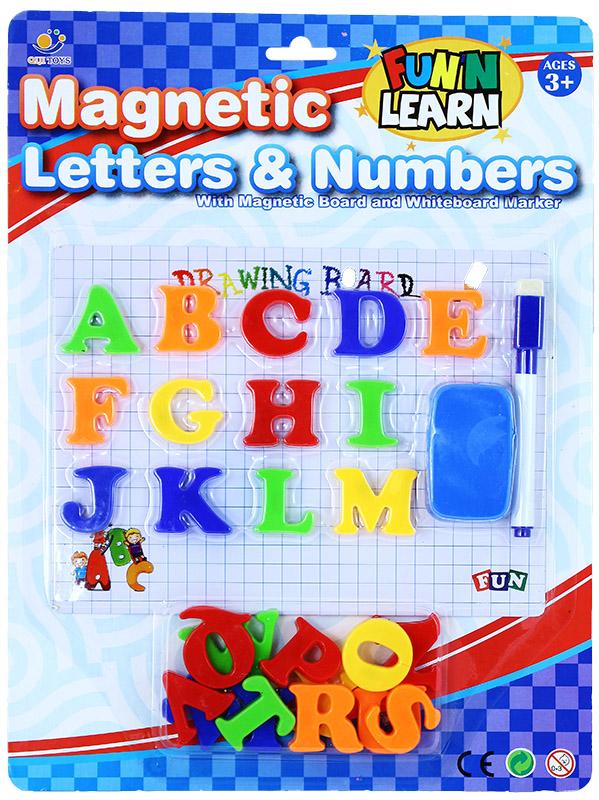 písmená magnetická s tabuľkou a fixom