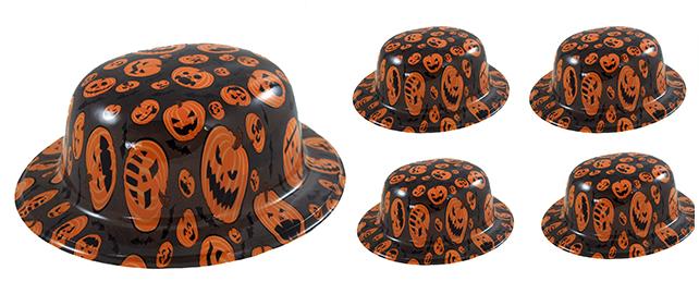 klobúk plastový Halloween, 4 ks vo vrecku
