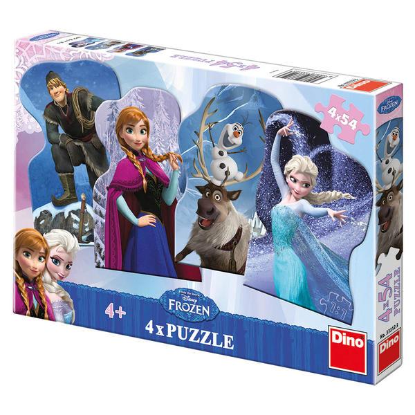 puzzle 4 x 54 FROZEN - Ľadové kráľovstvo