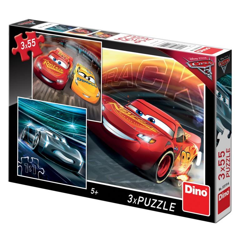 puzzle 3x55 Cars 3 - Trenink
