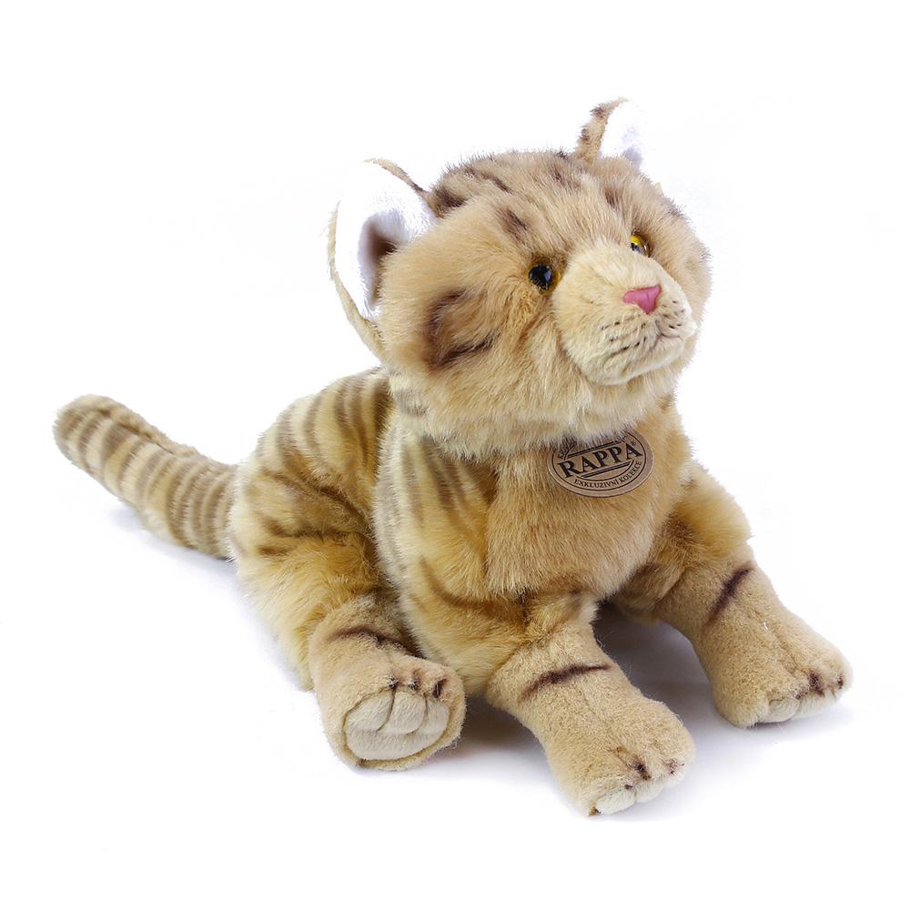 plyšová mačka hrdzavá, 28 cm