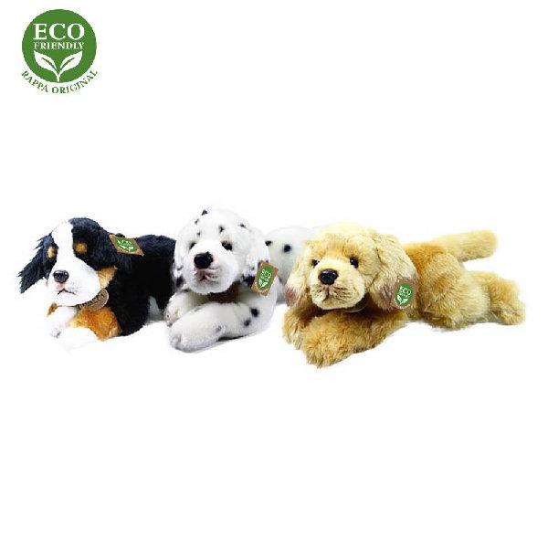 plyšový pes ležiaci 3 druhy, 30 cm