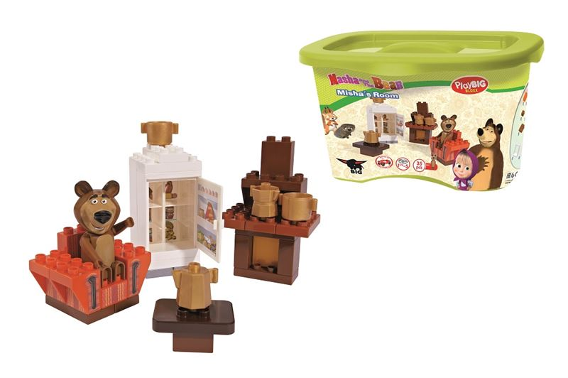 stavebnica Máša a medveď Míšova izba