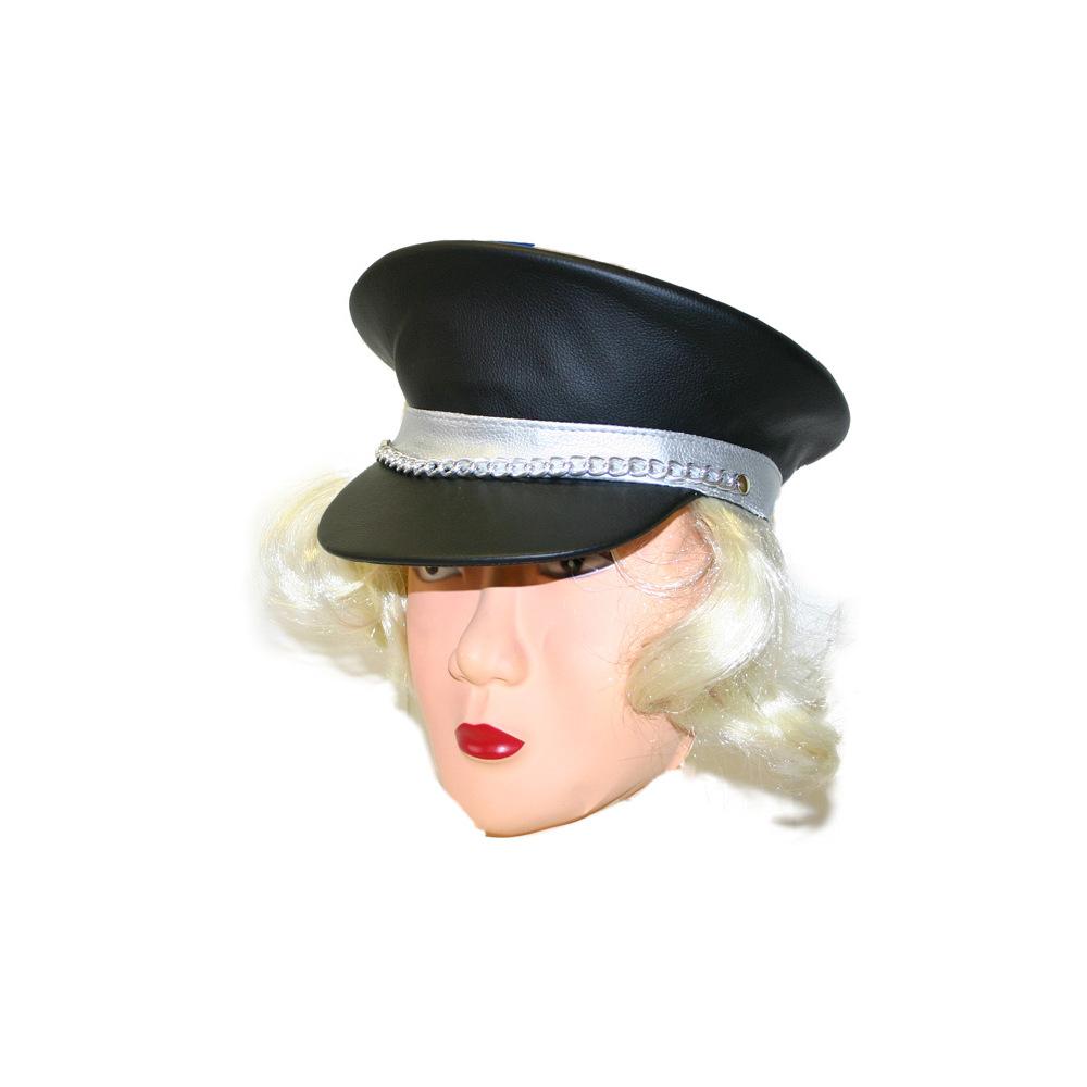 čiapka šiltovka koženková s vlasmi