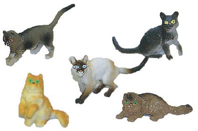 mačky, 5 ks vo vrecku