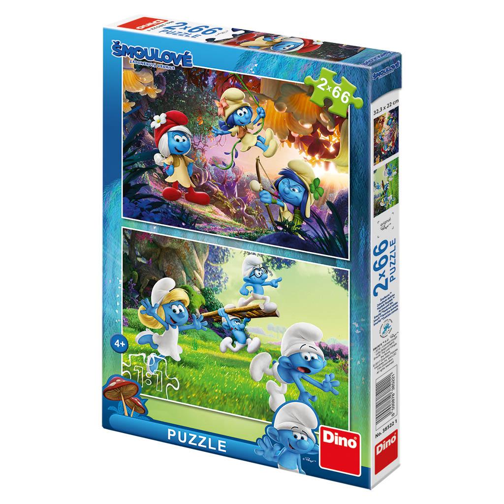 puzzle 2x66 Šmolkovia 3 Výprava