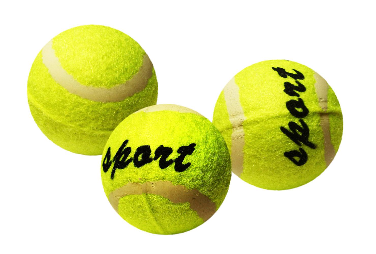 loptička tenisová v sáčku, 3ks