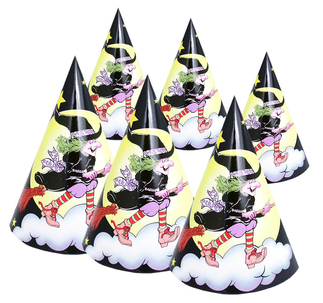 klobúk párty čarodejnica, 6 ks