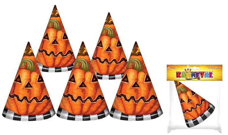 klobúk párty - Halloween, 6 ks vo vrecku