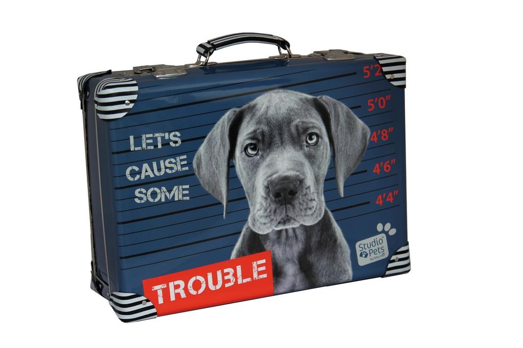kufor nýtovaný Trouble Studio Pets, 40cm