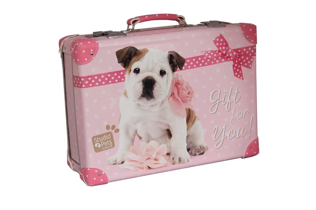 kufor nýtovaný Milly Studio Pets, 40cm