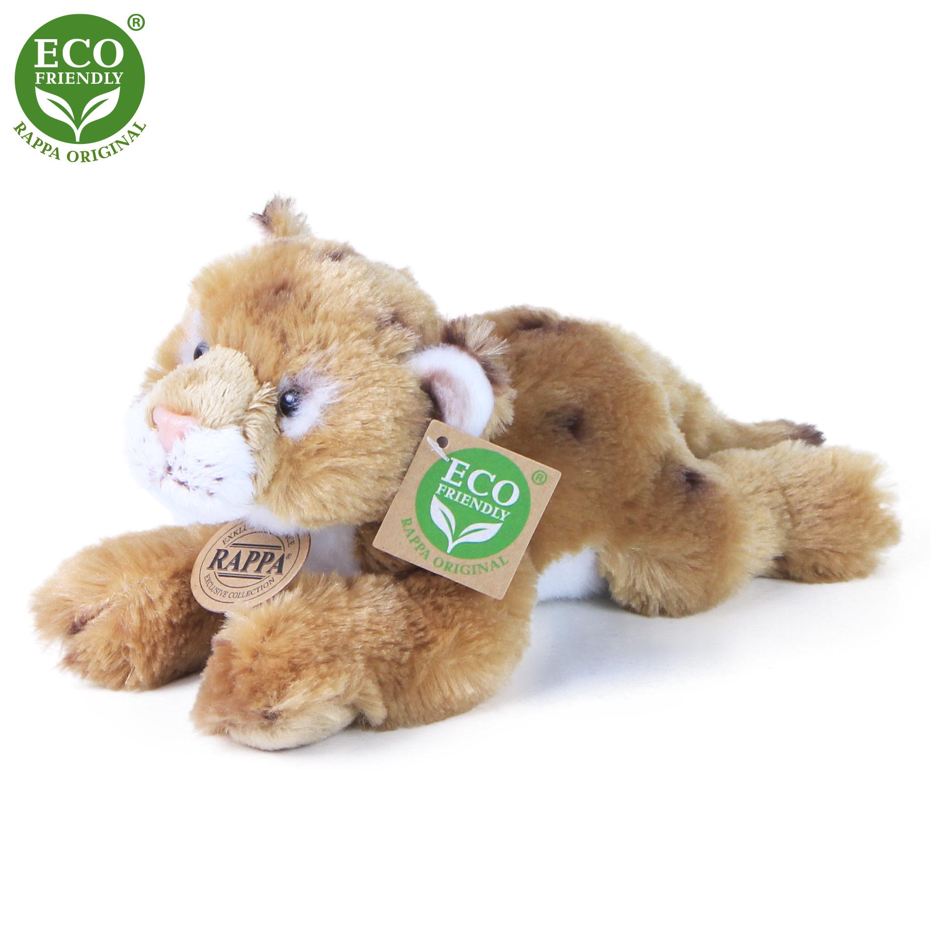 plyšový tiger ležiaci, 3 druhy, 17 cm