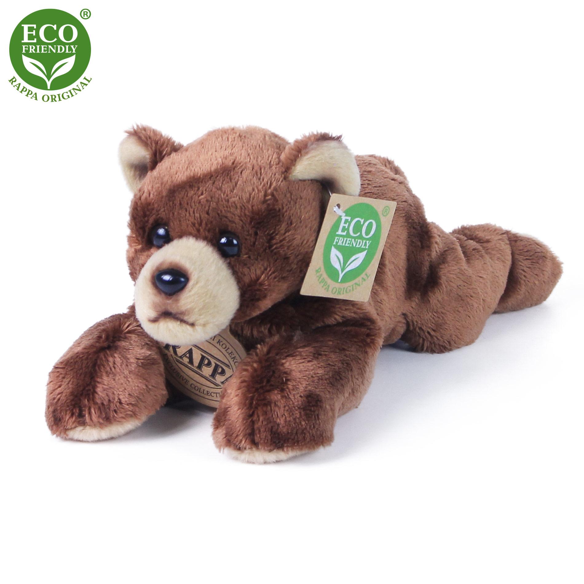 plyšový medveď/panda ležiaci, 18 cm
