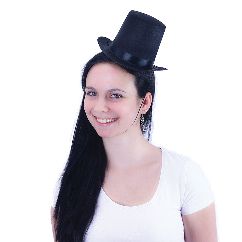 klobúk cylinder mini pre dospelých