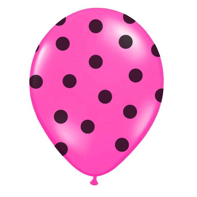 balónek nafukovací 30 cm s potiskem růžový