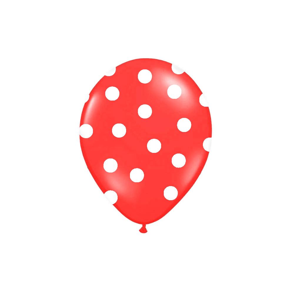 balónek nafukovací 30 cm s potiskem červený