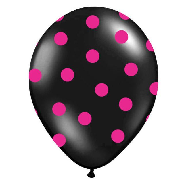 balónek nafukovací 30 cm s potiskem černý