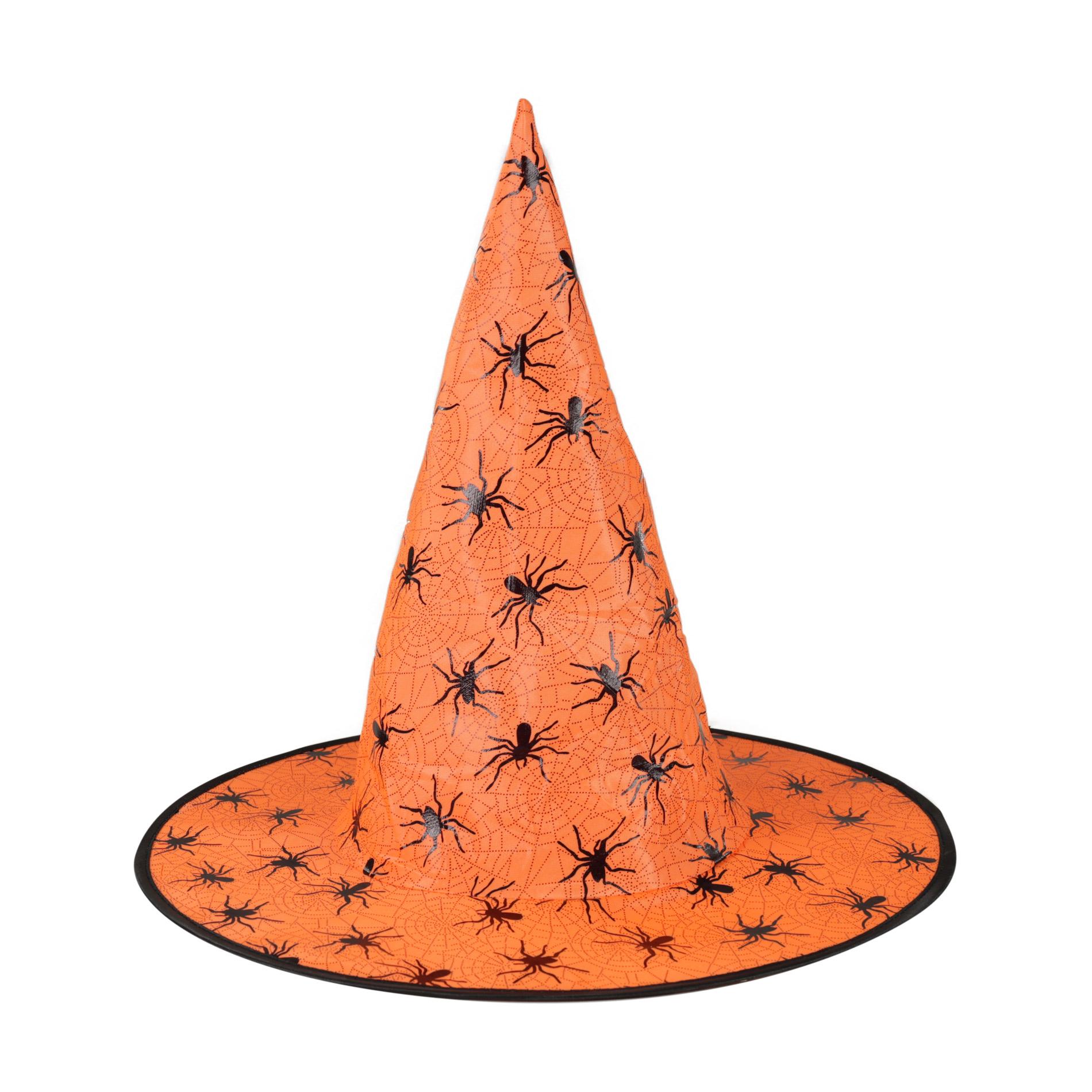 klobúk čarodejnícky/halloween oranžový dospelý