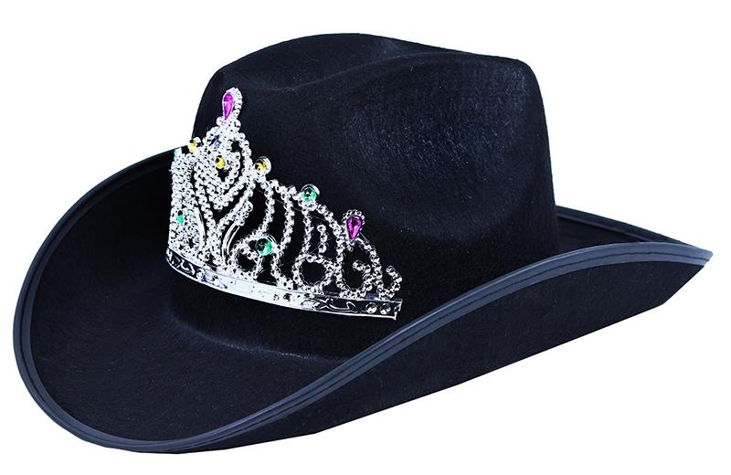 klobúk kovbojský s korunkou pre dospelých