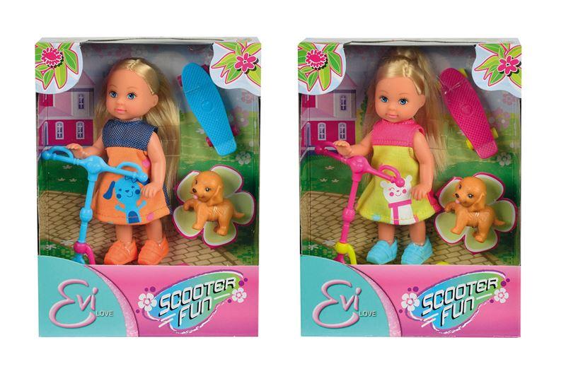 bábika Evička s kolobežkou, 2 druhy