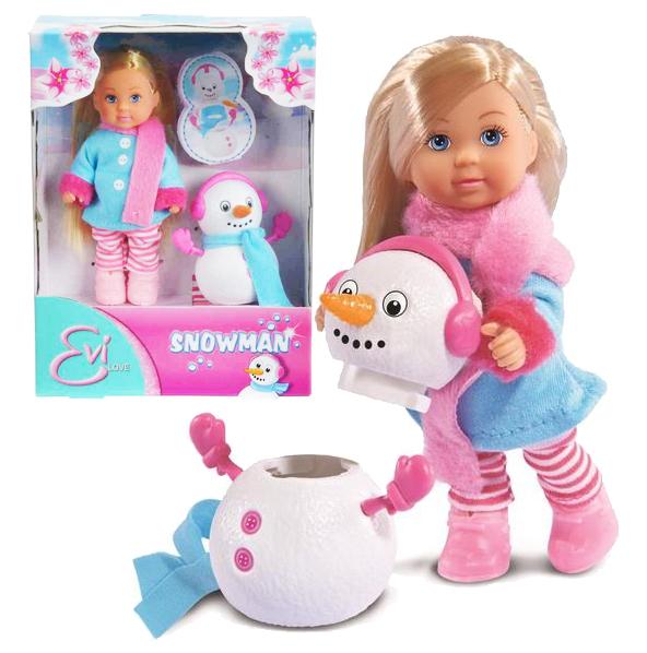 bábika Evička a snehuliak