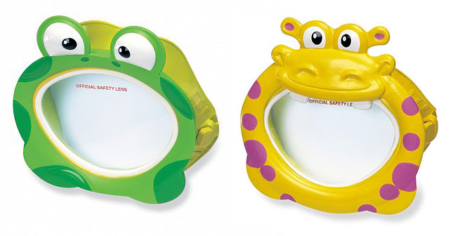 okuliare do vody detské, 2 druhy