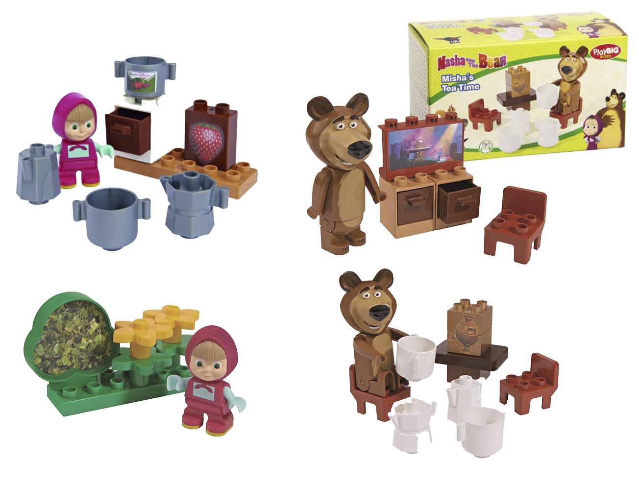 Stavebnica Máša a medveď, 4 druhy