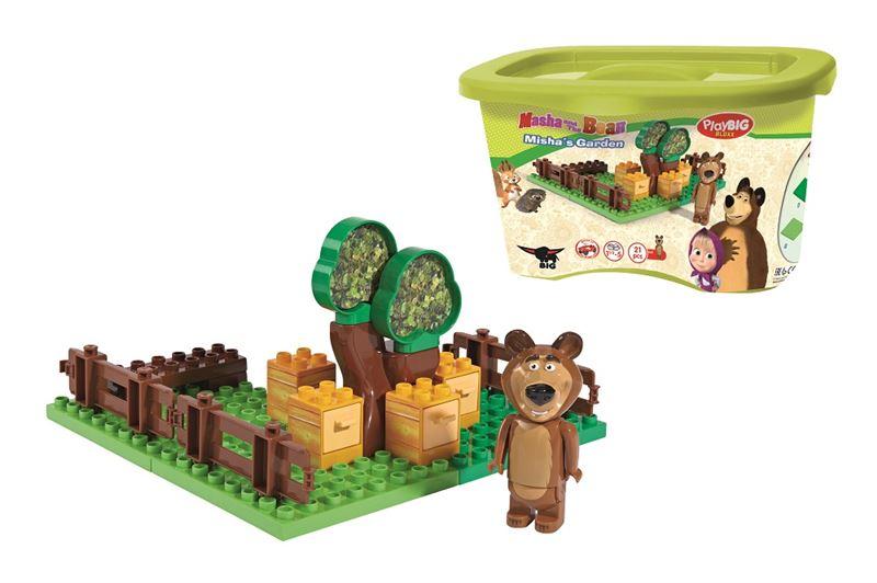 stavebnica Máša a medveď Míšova záhradka
