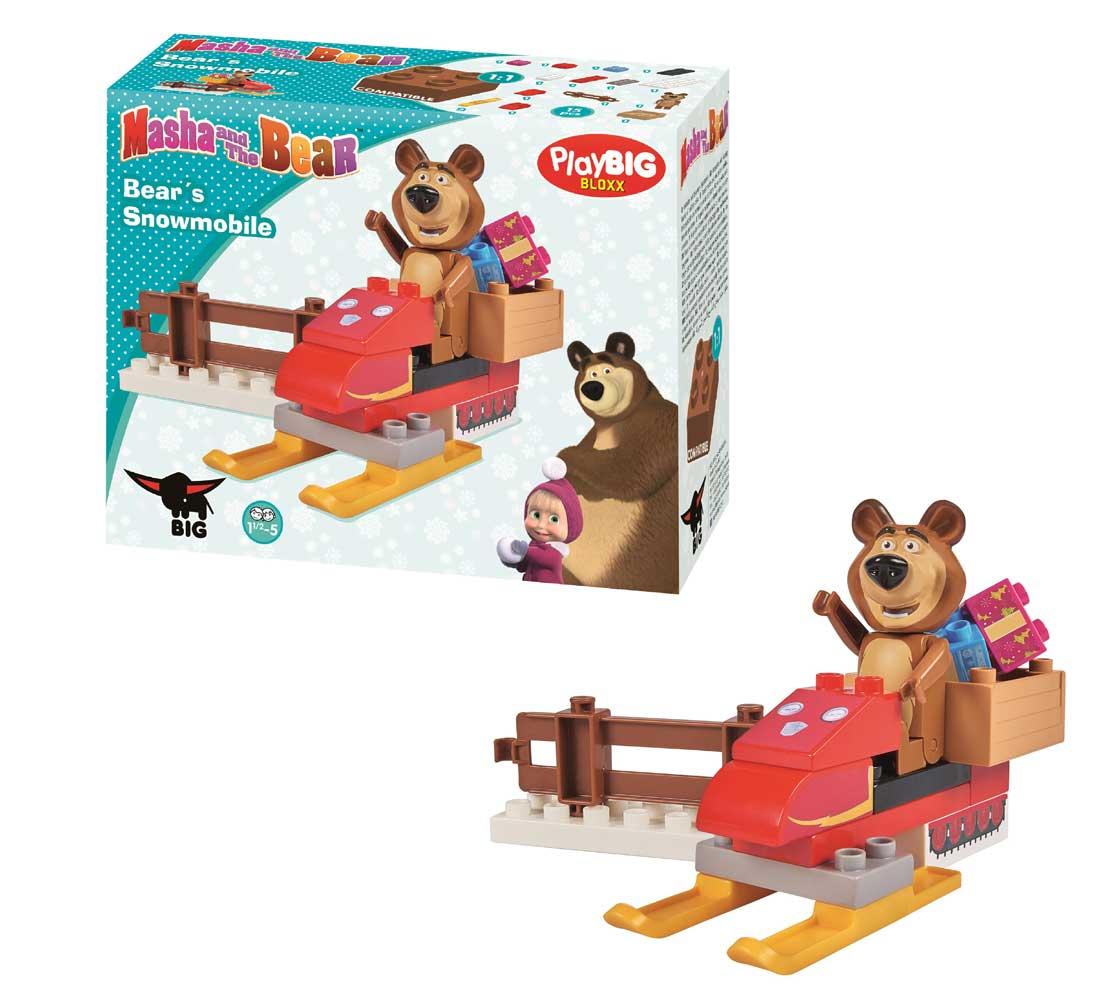 stavebnica Play BIG Bloxx Máša a medveď Míša sa skútrom