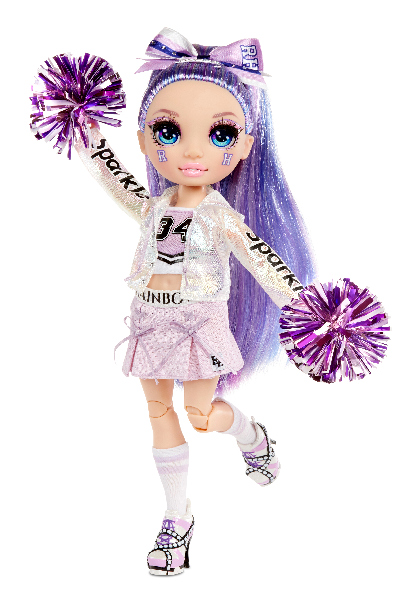 Rainbow High Fashion panenka - Roztleskávačka - Violet Willow (fialová)