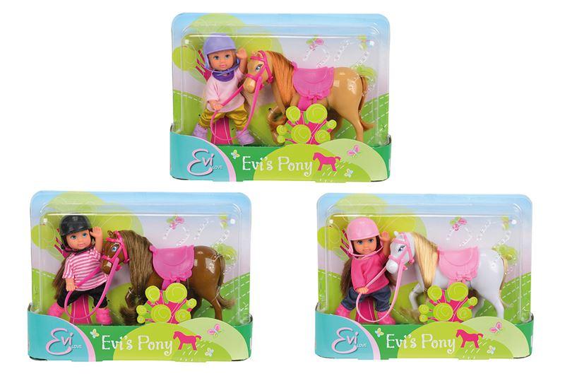 Bábika Evička s poníkom, 3 druhy