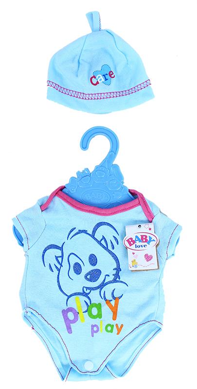 oblečenie body s čiapočkou pre bábiku