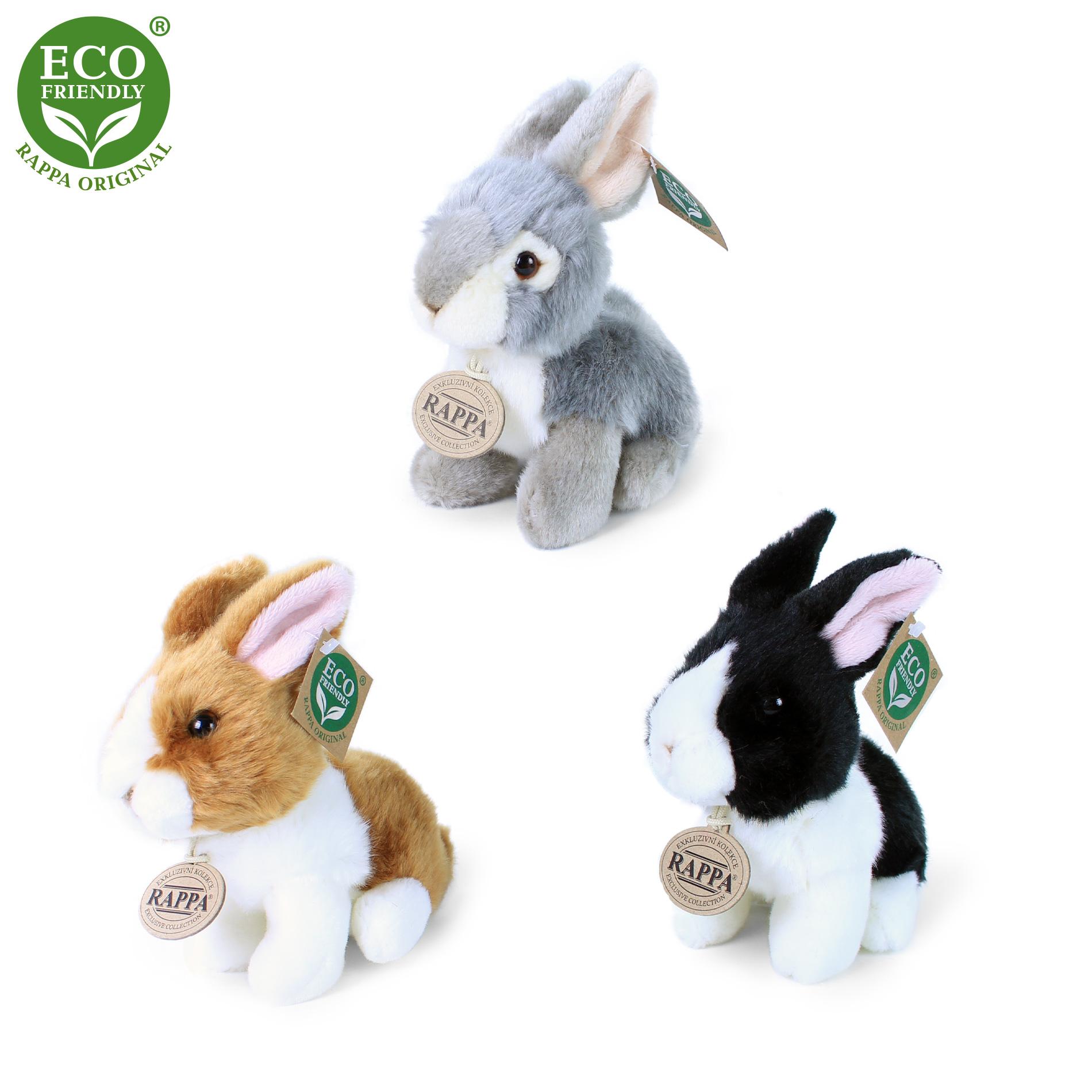 plyšový králík, 3 druhy, 16 cm