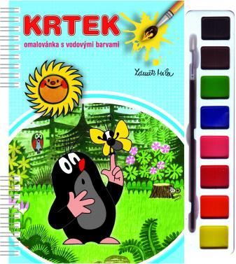 Omalovánka s barvami a štětcem Krtek
