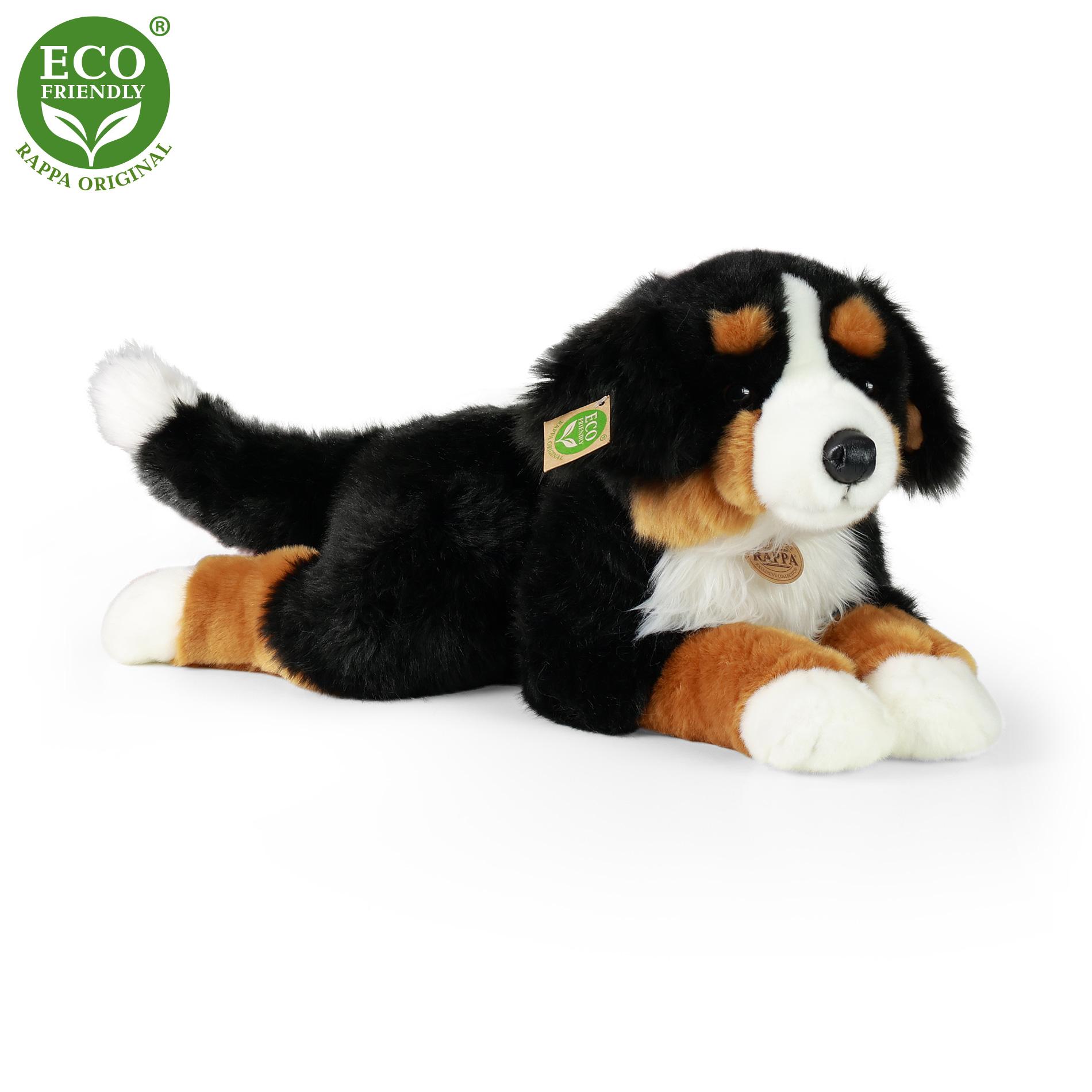 veľký plyšový pes salašnícky ležiaci, 61 cm