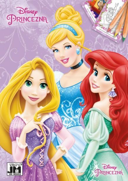 maľovanka A5 Disney Princezné