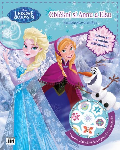 kniha kreatívna obleč si Annu a Elsu FROZEN - Ľadové kráľovstvo