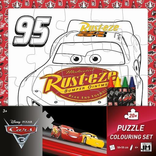 puzzle k vymaľovanie Cars 3