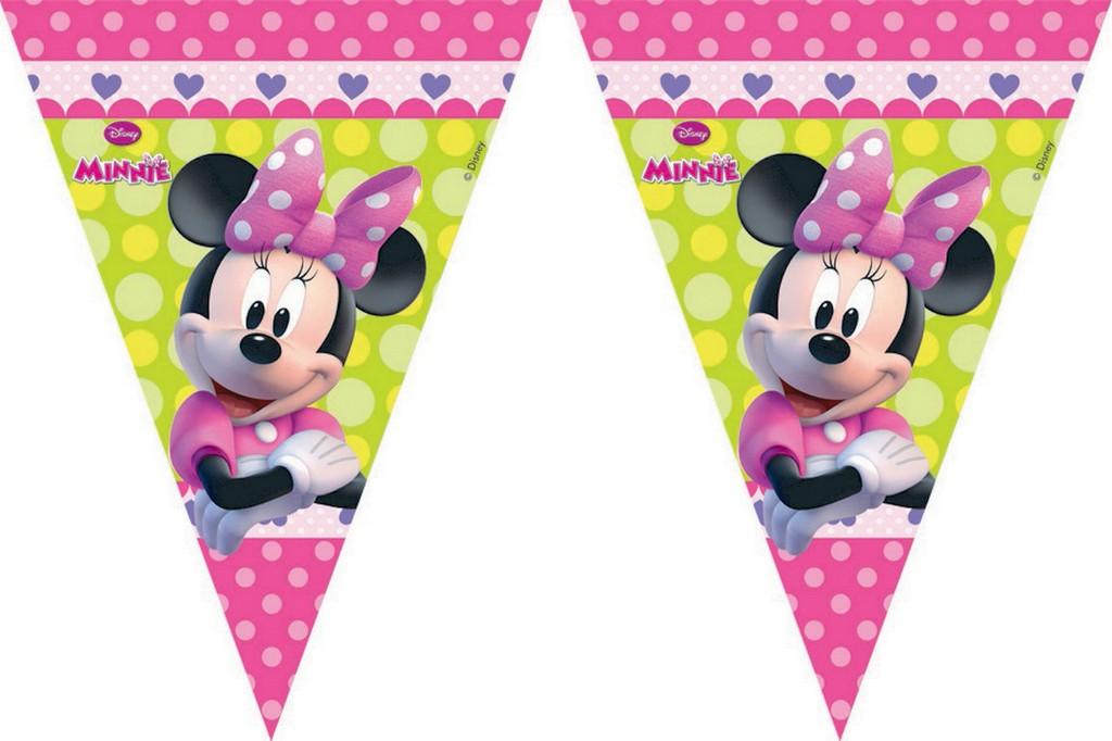 PROCOS girlanda vlajky Minnie 9 ks