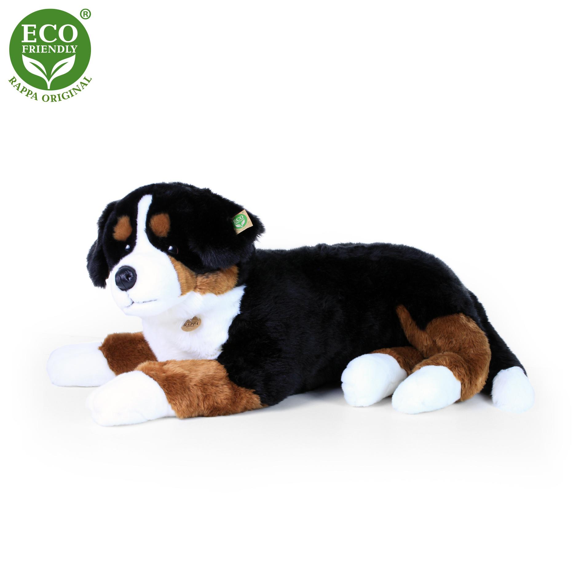 Velký plyšový bernský salašnický pes ležící 89 cm ECO-FRIENDLY