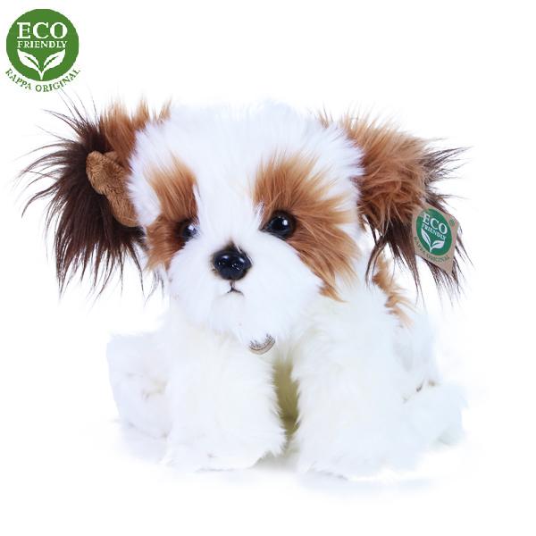 Plyšový pes shih tzu sedící 28cm ECO-FRIENDLY