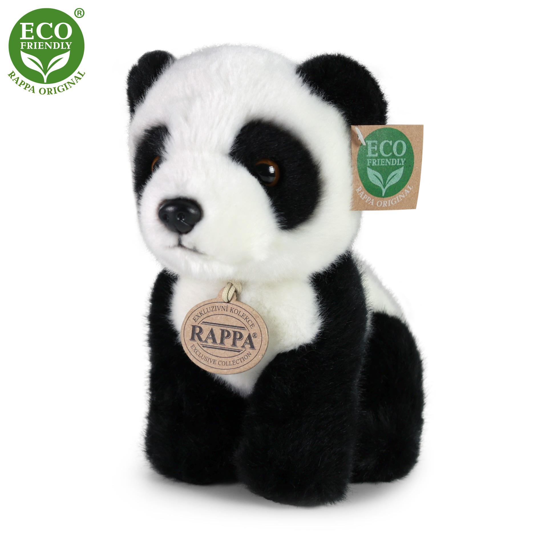 plyšová panda sediaci, 18 cm