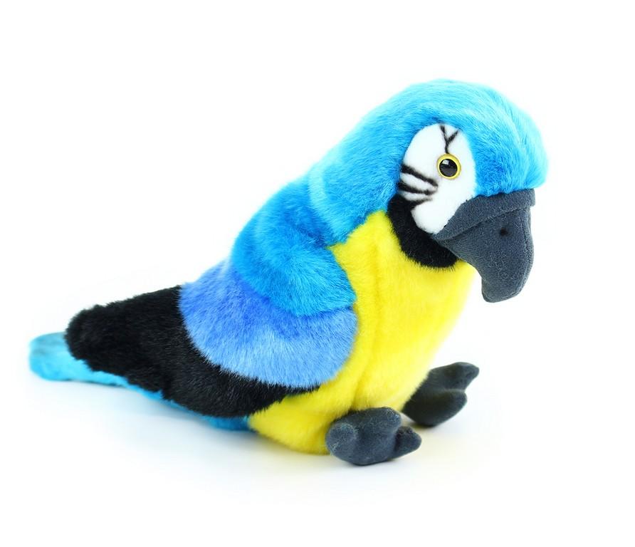 plyšový papagáj sediaci, 25 cm
