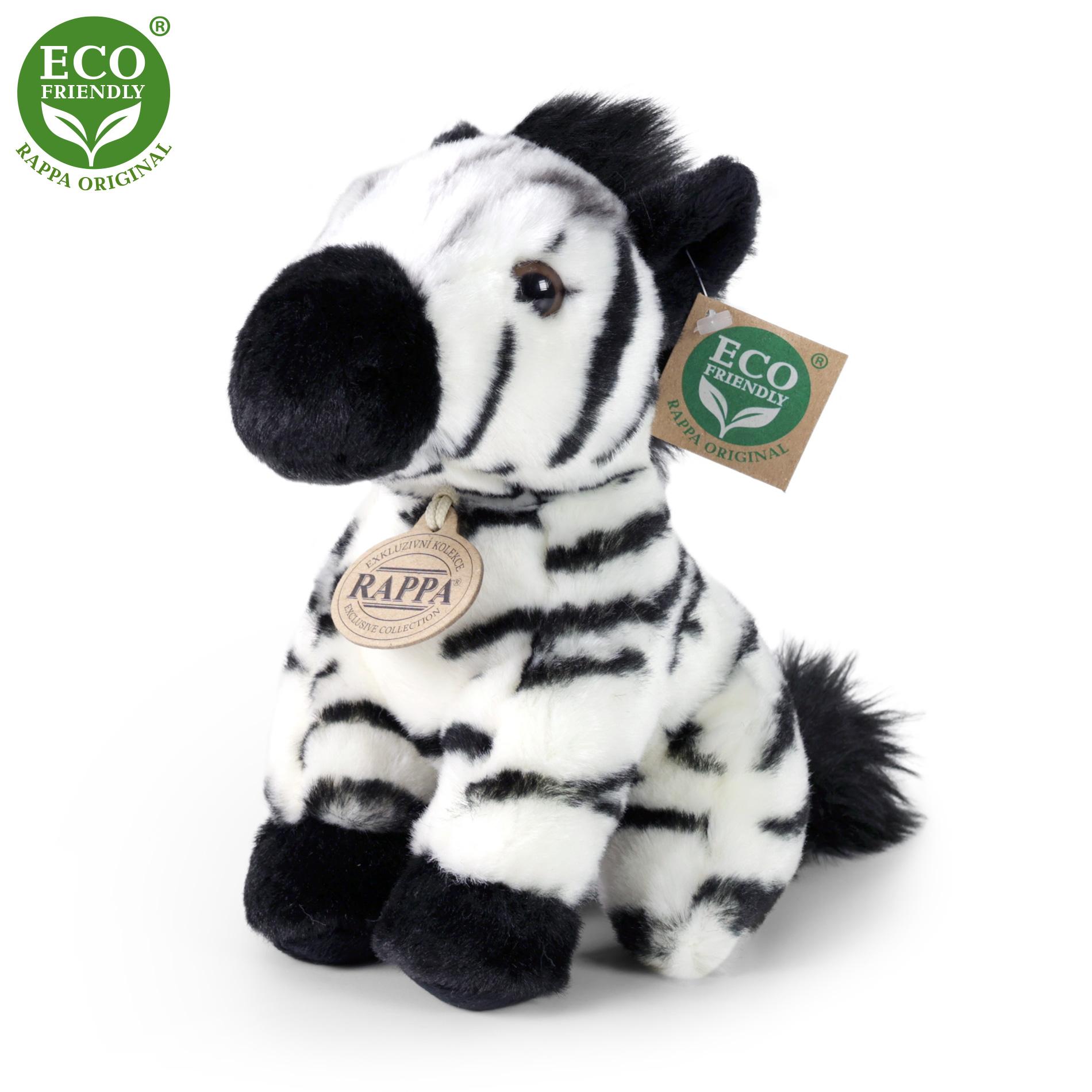 plyšová zebra sediaci, 18 cm