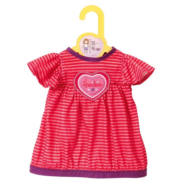 Dolly Moda oblečenie šaty so srdiečkom, 38-46 cm
